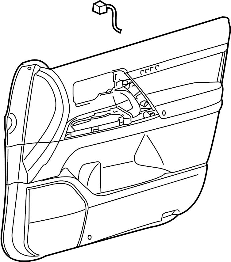 Toyota Land Cruiser Door Interior Trim Panel (Front
