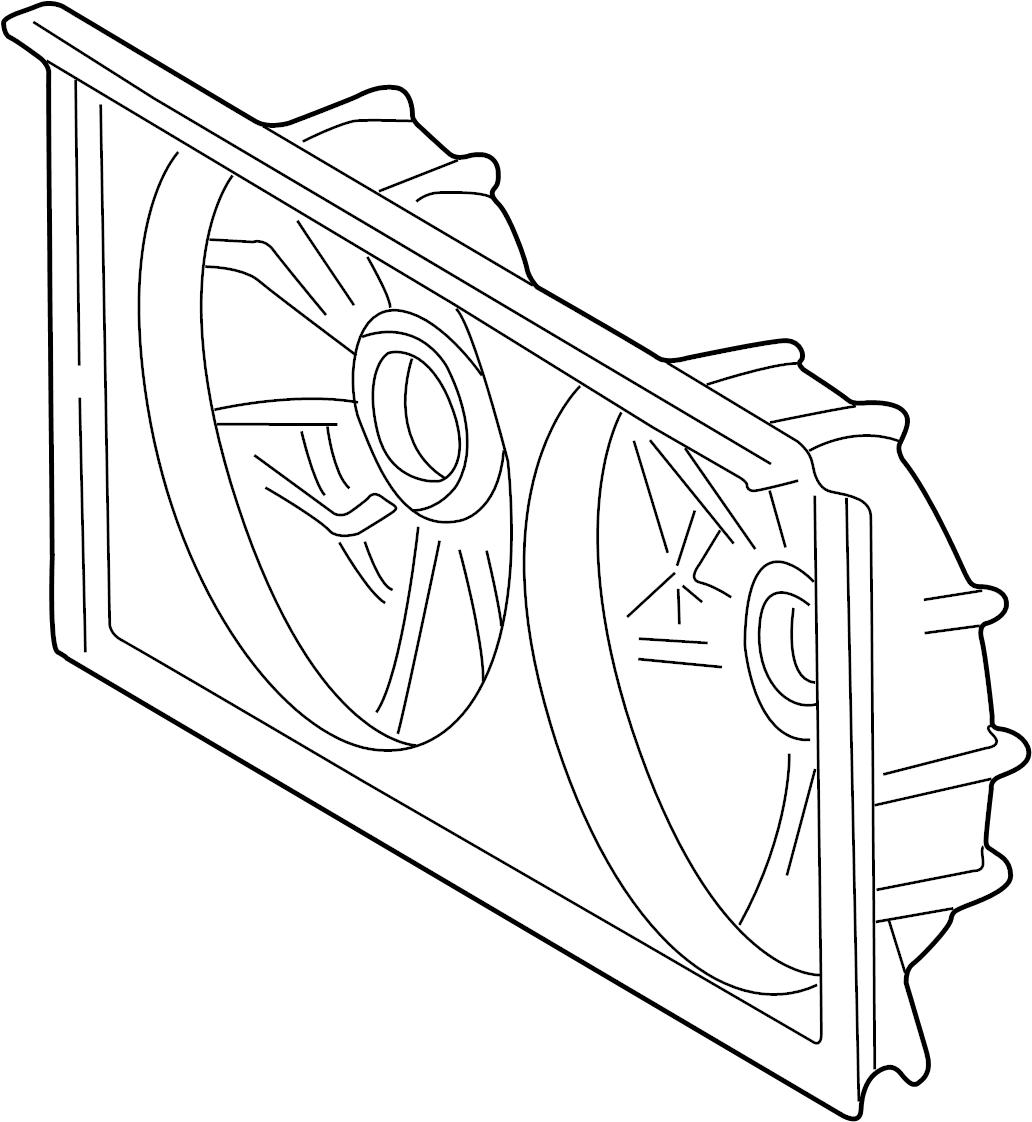 Toyota Mr2 Spyder Engine Cooling Fan Shroud Make