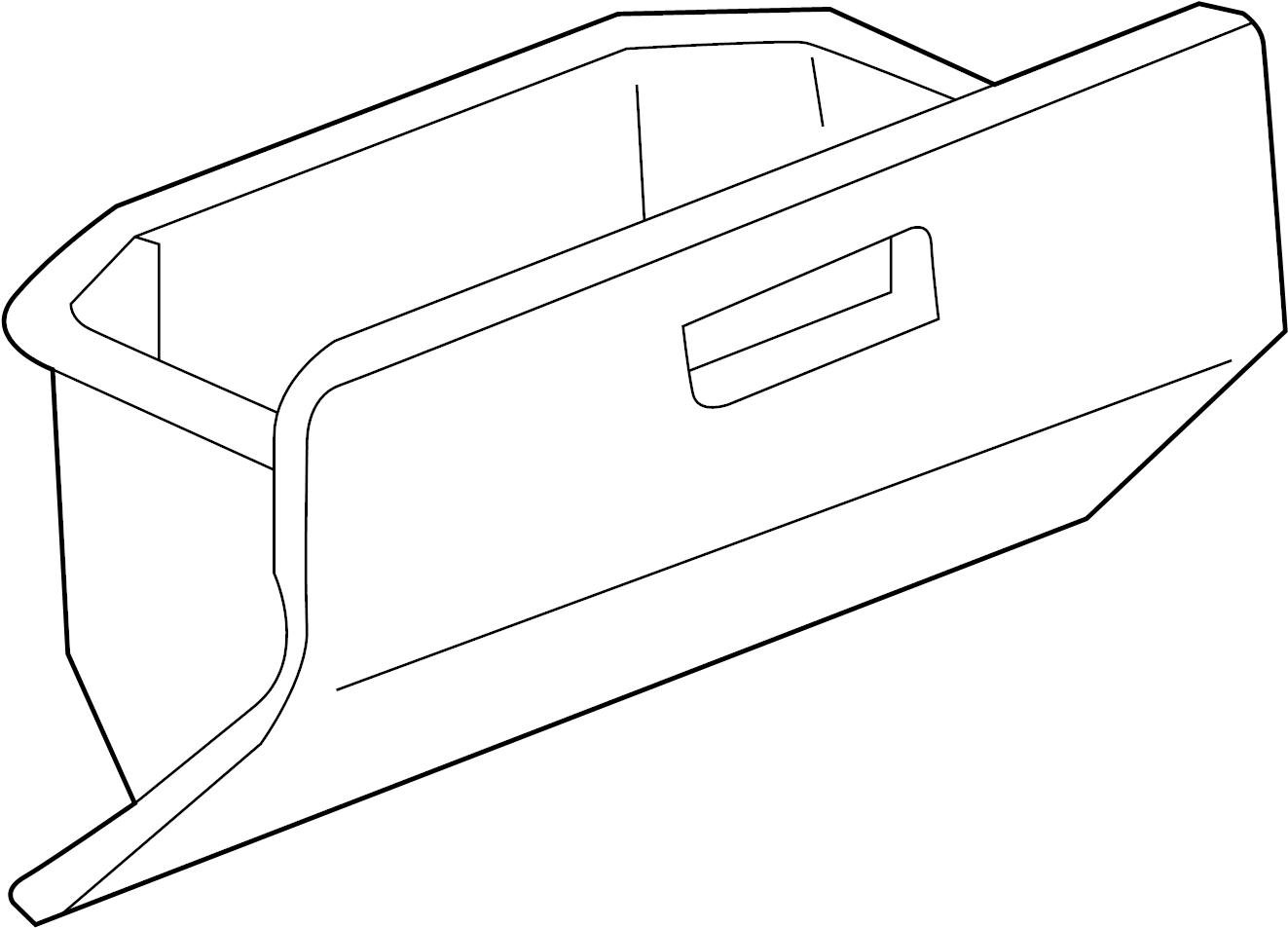 Toyota Mr2 Spyder Glove Box Panel Instrument Front