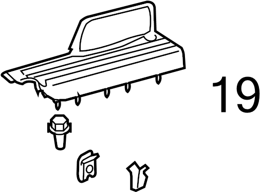 Toyota Corolla Clip. Trim. Panel. QUARTER. Retainer