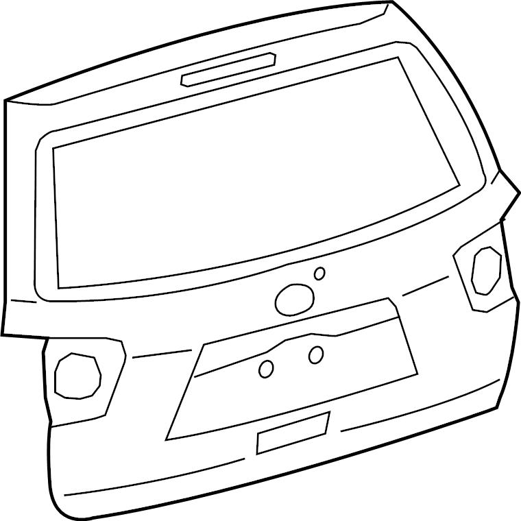 Toyota Sequoia Liftgate. W/rear spoiler, w/o power. Body