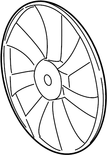 Toyota Highlander Engine Cooling Fan Blade. 2011-13