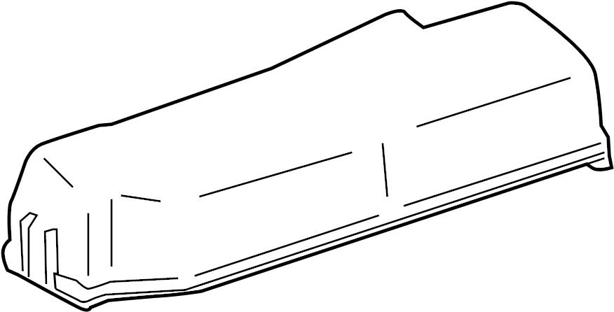 Toyota Corolla Fuse Box Cover (Upper). ENGINE COMPARTMENT