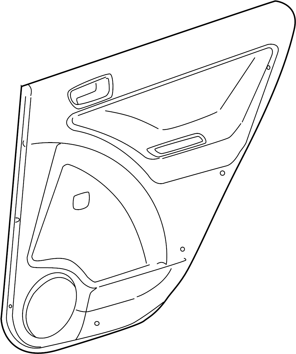 Toyota Matrix Door Interior Trim Panel. XR & XRS, power