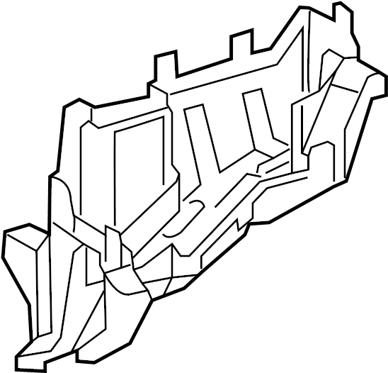 Toyota RAV4 Cover, relay block,. Lower cover. Engine