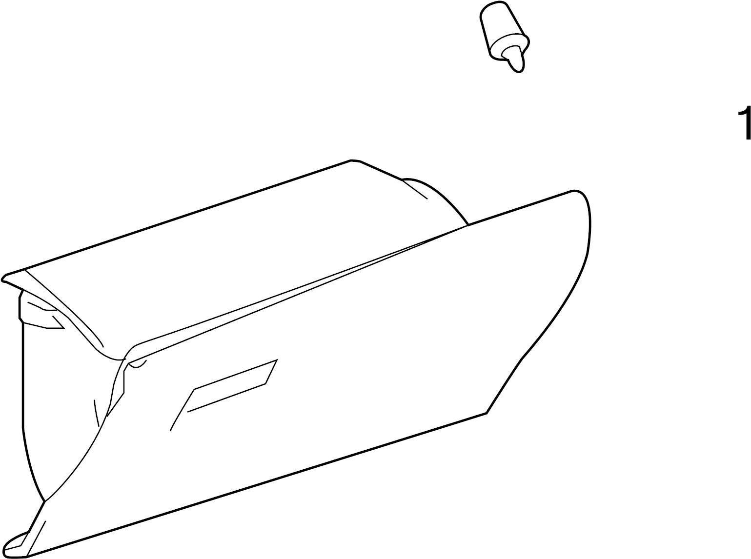 Toyota 4runner Glove Box Door Bumper 13 20
