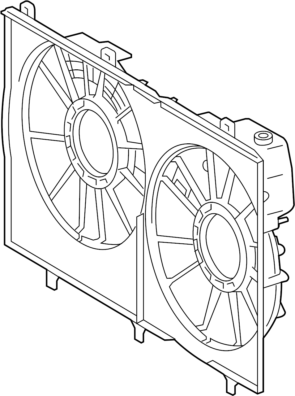 Toyota Highlander Engine Cooling Fan Shroud. RADIATOR