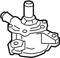 Toyota Highlander Drive Motor Inverter Cooler Water Pump