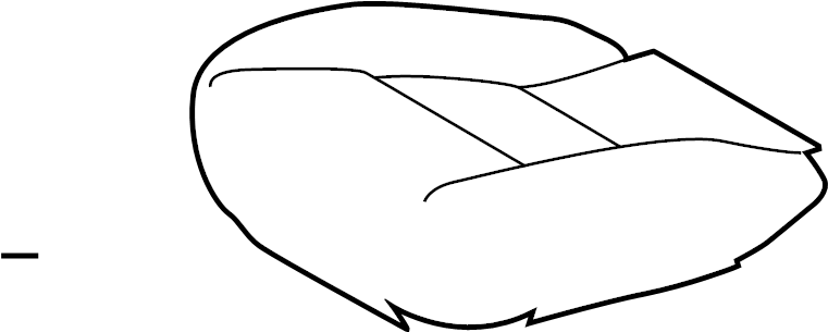 Toyota Highlander Seat Cover. MANUAL, SofTex, black