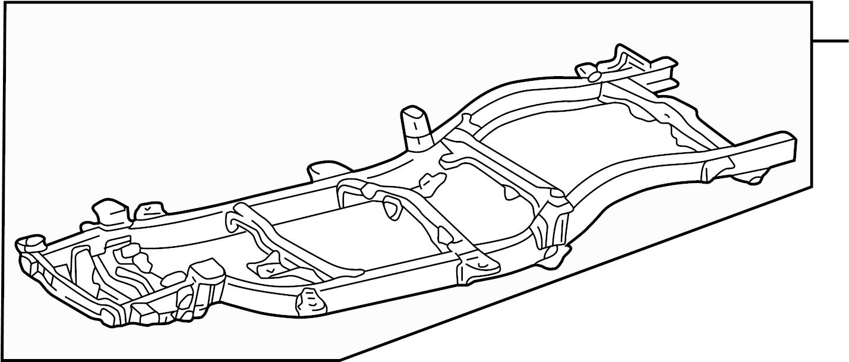 Toyota Tacoma Frame Rail. 2WD, W/O PRERUNNER, 2.4 liter