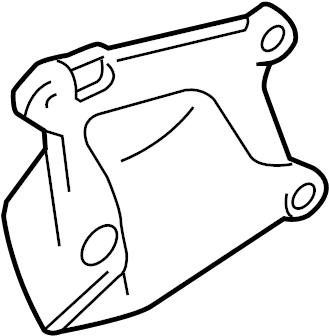 Toyota Tacoma Engine Mount Bracket (Front, Rear). 3.4