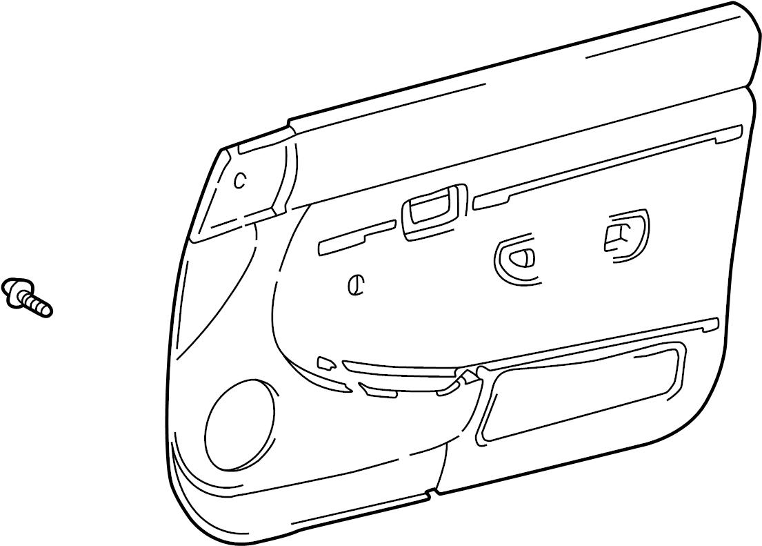 Toyota Tacoma Door Interior Trim Panel. MANUAL WINDOWS W/O