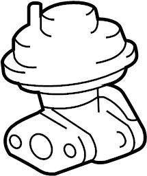 Toyota Tacoma Egr valve. Emission, manual, make
