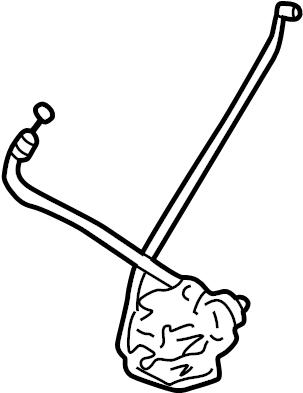 Toyota Sienna Liftgate Latch. Manual locks. Sienna; w/o