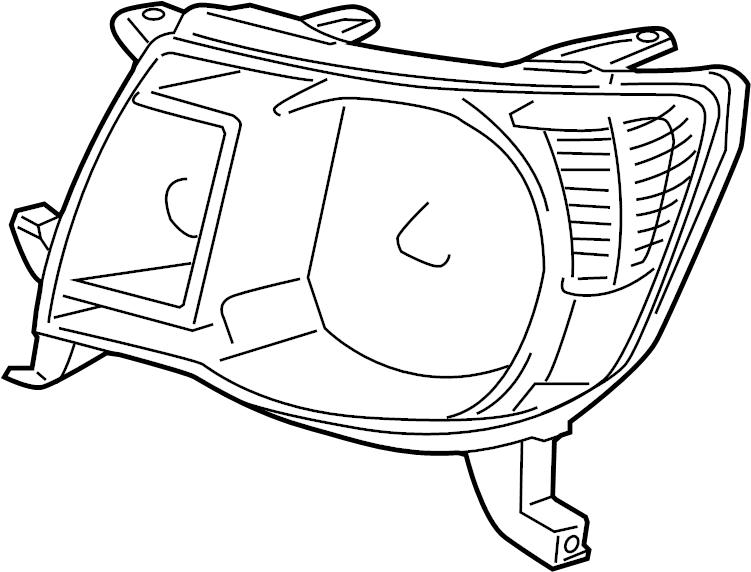 Toyota Tacoma Headlight. 2005-11. 2005-11, w/o smoked