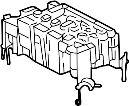 Toyota Tacoma Fuse Box. ENGINE COMPARTMENT, w/o towing