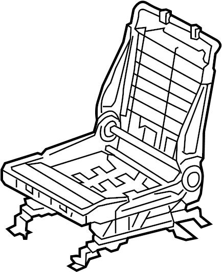 Toyota Avalon Seat Frame. PASSENGER SEAT, 2005-08. FRONT