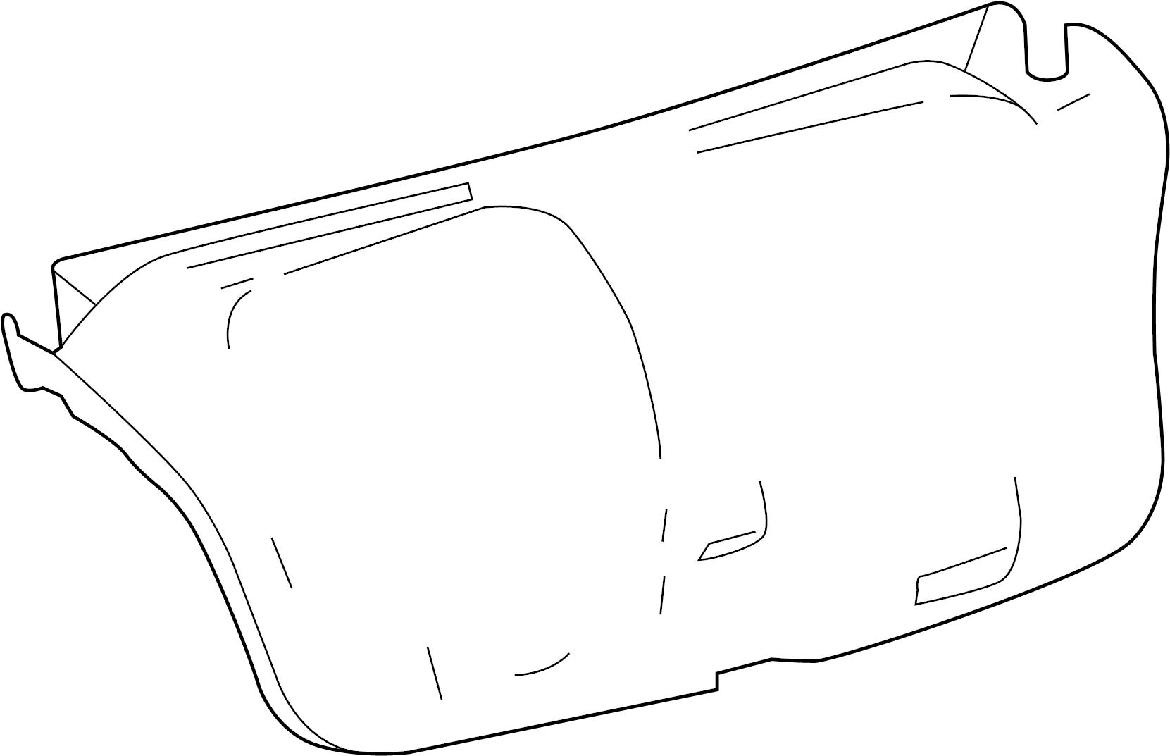 Toyota Avalon Deck Lid Trim Trunk Rear Interior Body