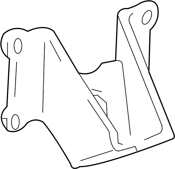 Toyota Tacoma Engine Mount Bracket (Front, Rear). 2.7