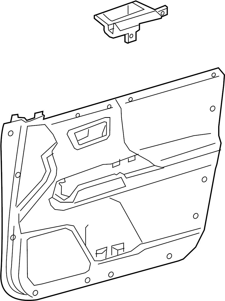 Toyota Tacoma Door Interior Trim Panel. W/premium audio
