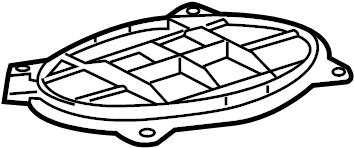 Toyota Camry Speaker Cover. Package tray speaker, rear, w