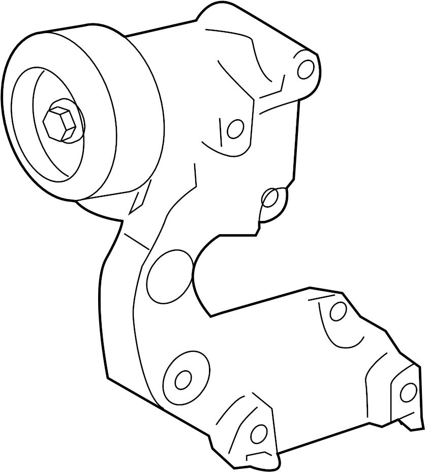 Toyota RAV4 Accessory Drive Belt Tensioner Assembly. LITER