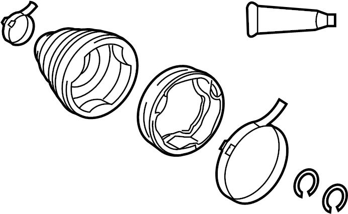Toyota Corolla Cv joint boot kit. Outer, inner, left