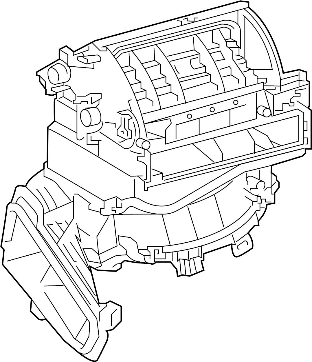 Toyota RAV4 Hvac blower case assembly. Japan built, w