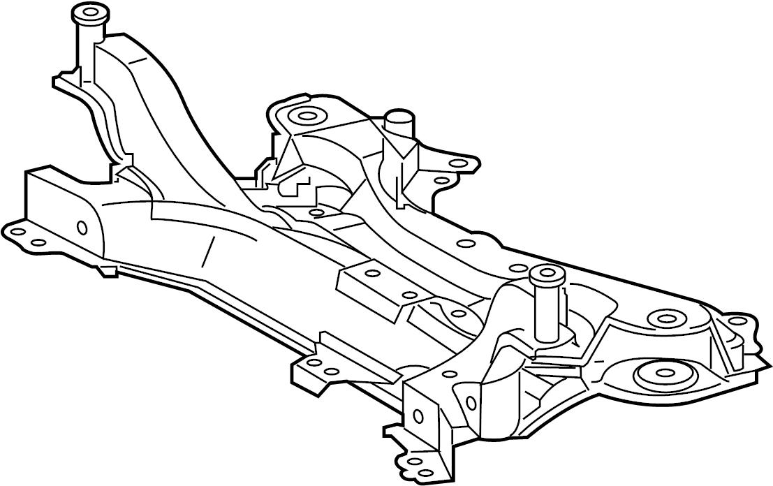 Toyota RAV4 Crossmember. SUSPENSION. Engine. Cradle