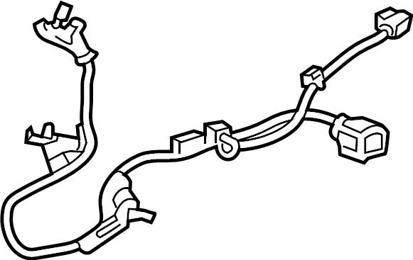 Toyota Avalon Abs wheel speed sensor wiring harness