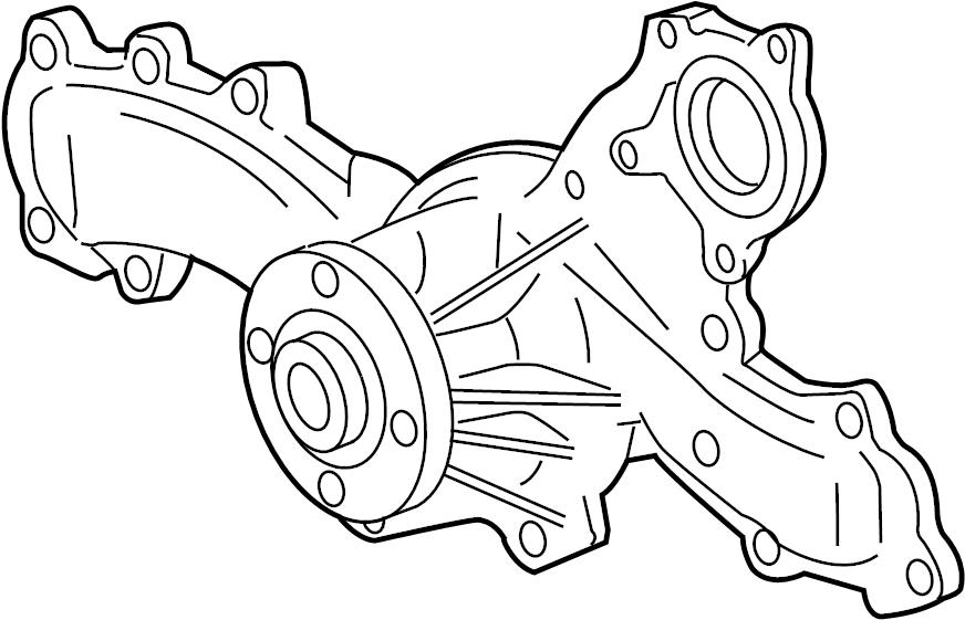 Toyota Highlander Engine Water Pump. COOLING, HYBRID, Make