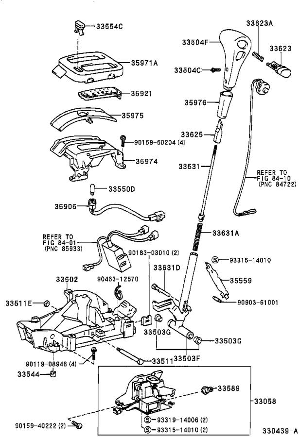 Toyota RAV4 Wire sub-assembly, indic. Atm, transmission