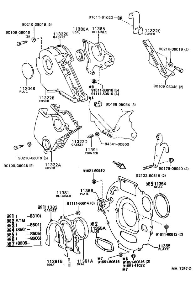 Toyota Camry Plug, semi circular(for chain cover no. 2
