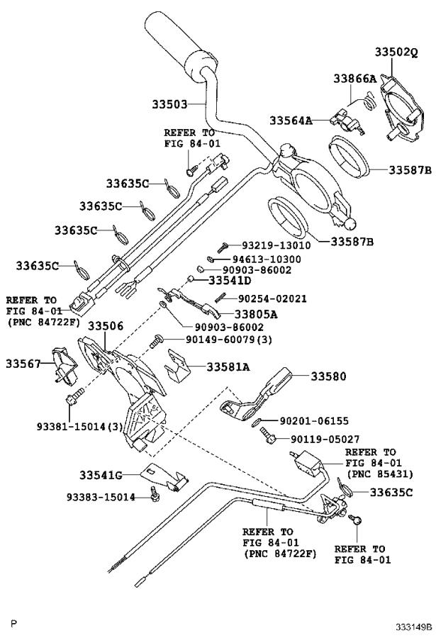 Toyota Tundra Guide, wire. Transmission, driveline