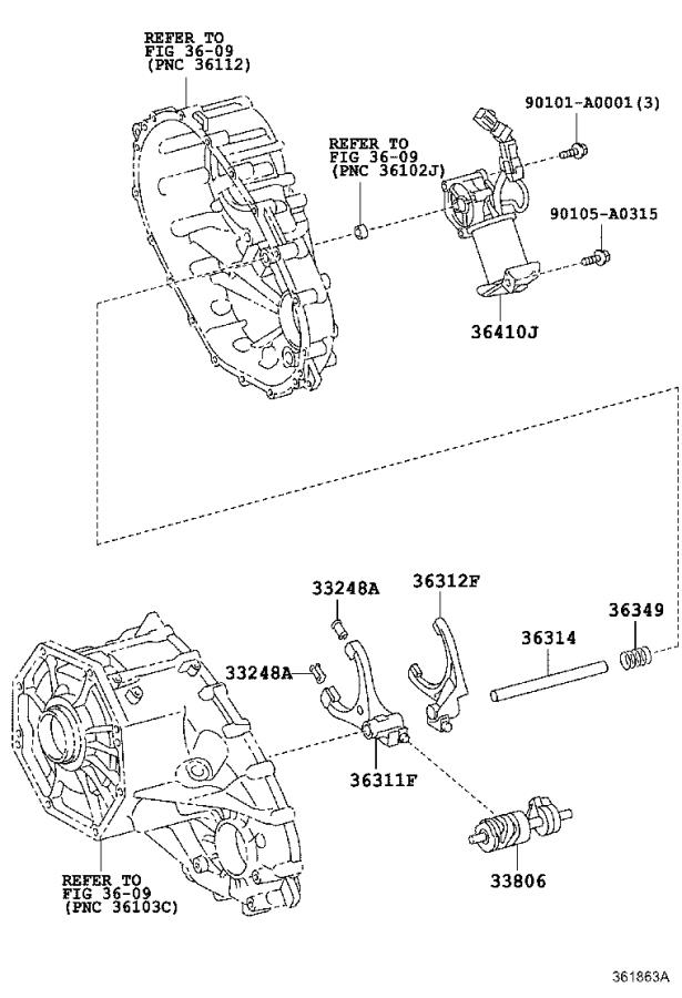 Toyota Tundra Shaft sub-assembly, control select