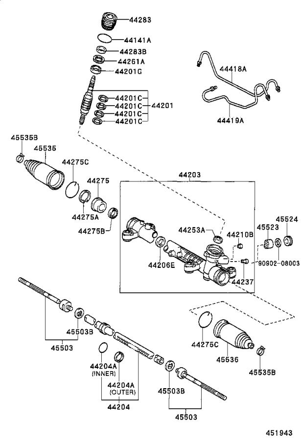 Toyota Celica Wire(for cylinder end stopper). Suspension