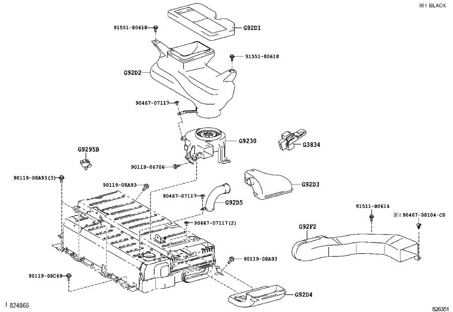 Toyota Camry Pad, battery carrier. Electrical, wiring