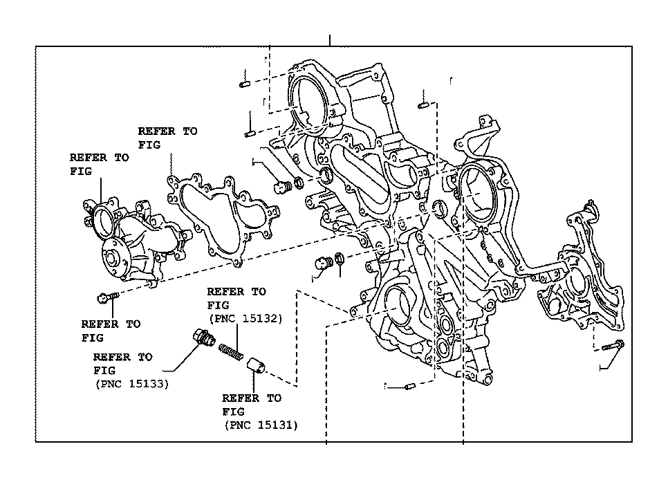 Toyota Sequoia Gasket. Timing belt cover, no. 1; timing