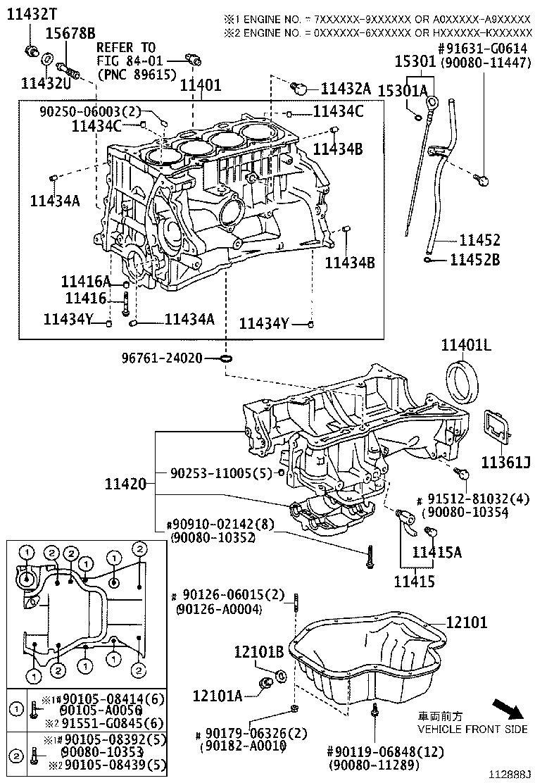 2006 Scion XB Block sub-assembly, cylinder. Engine