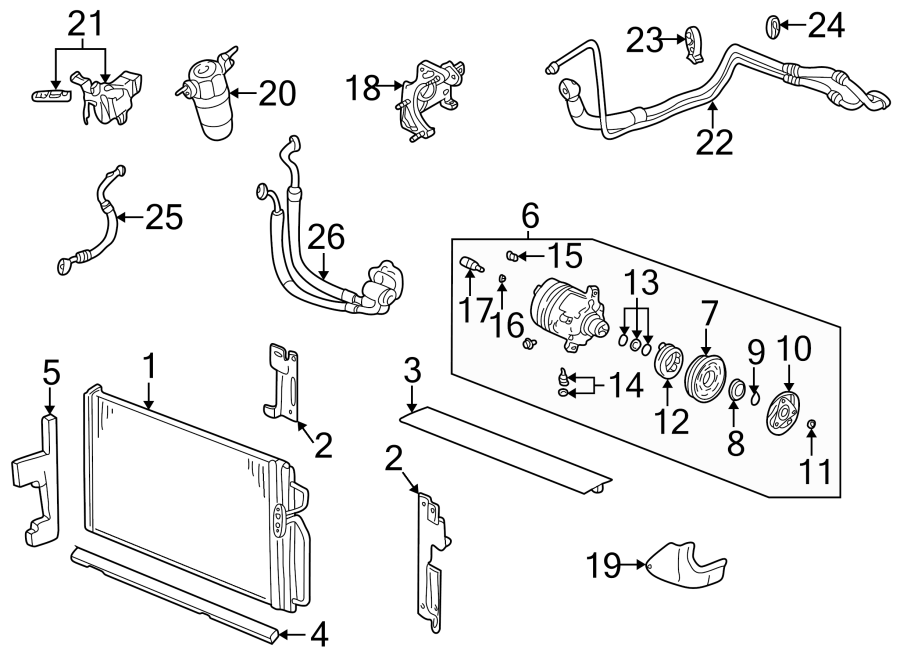 1996 Chevrolet S10 A/c refrigerant line seal kit