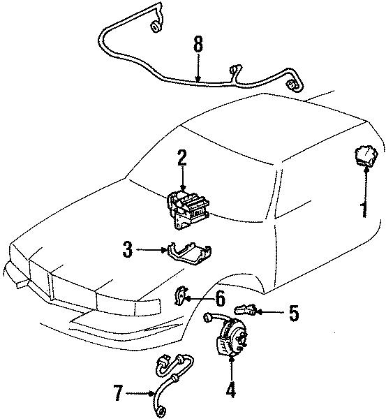 Cadillac Eldorado Harness. Sensor. Speed. ABS. (Rear). All