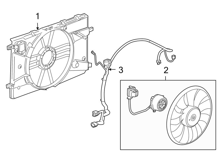 Chevrolet Cruze Engine Cooling Fan Shroud. Trans, Manual