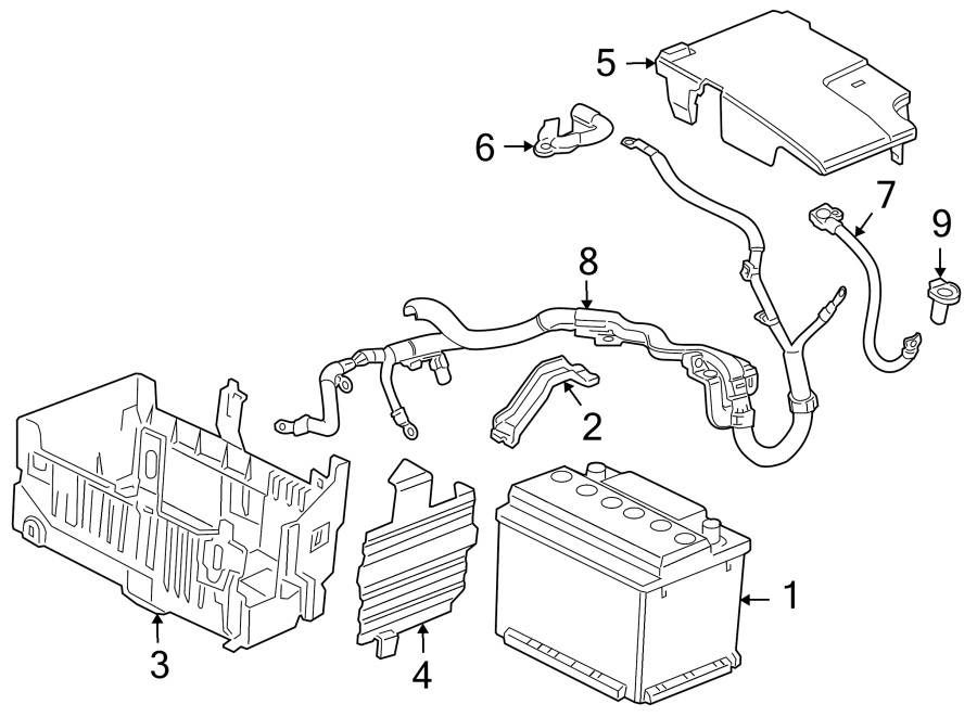 2013 Chevrolet Cruze Battery Cable. FUSE, PRIMARY