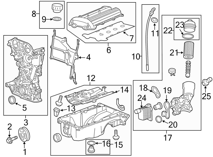 Chevrolet Cruze Engine Oil Filter Housing. 1.4 LITER TURBO