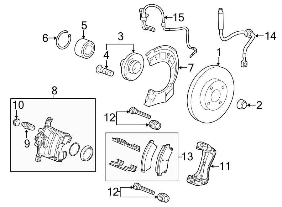 Chevrolet Equinox Brake Bleeder Screw (Rear). Brakes, Exc