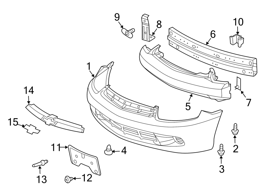 Chevrolet Cavalier Grille Molding (Front, Upper). 2003-05