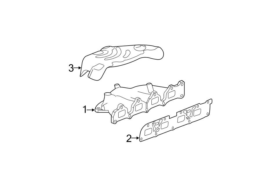 Chevrolet Malibu Exhaust Manifold. LITER, SYSTEM