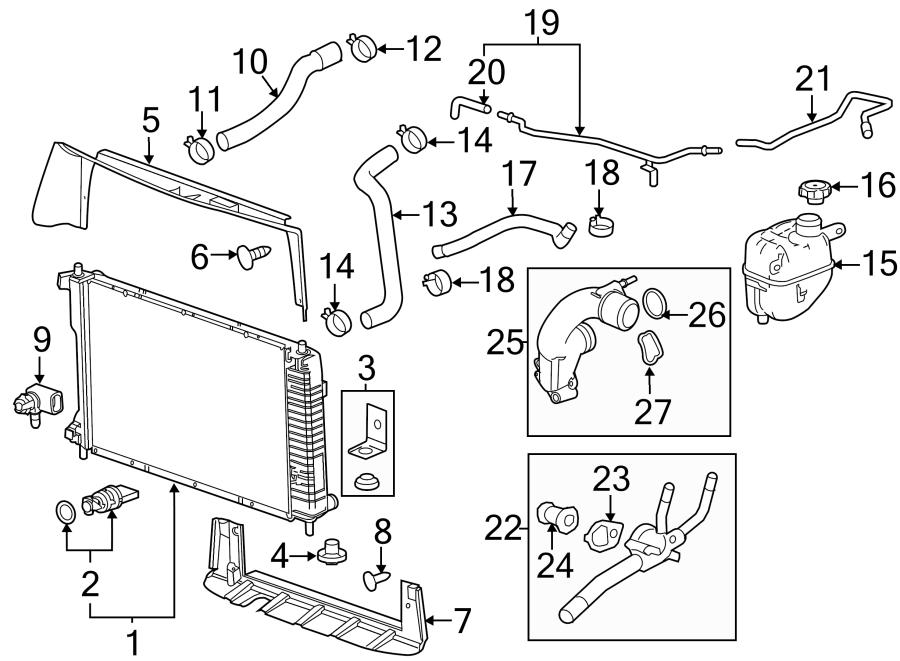 GMC Terrain Radiator Drain Plug. LITER, COMPONENTS, Front