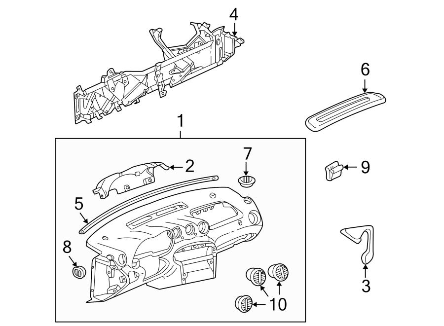 Pontiac Grand Am Dashboard Panel. Instrument, Body, MOTORS