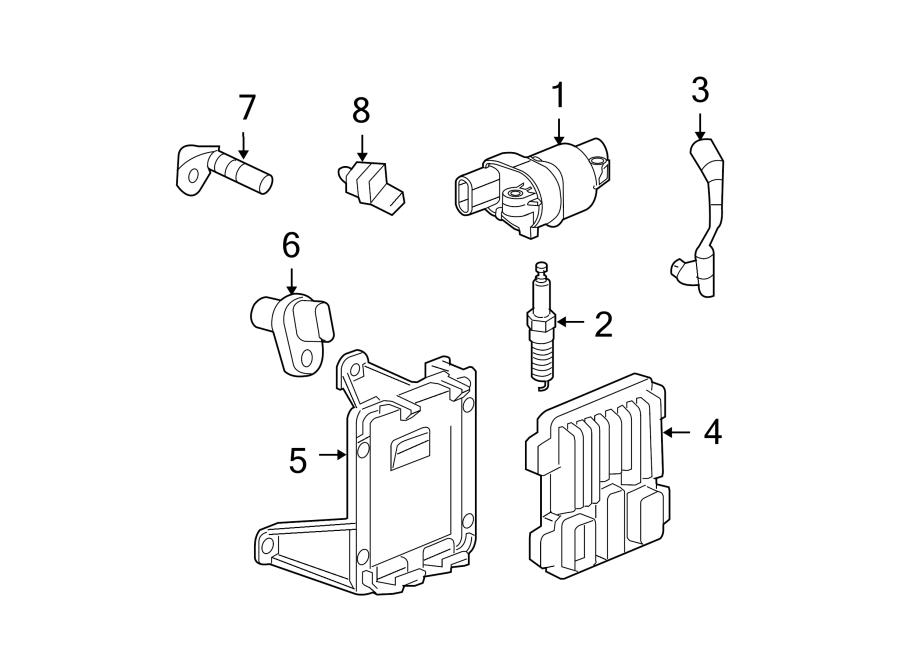 GMC Canyon Sensor. Crankshaft. Engine. Position